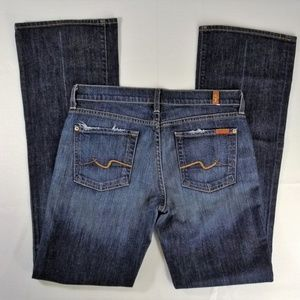 7 for all Mankind 29 Jeans Bootcut Dark Wash Low R
